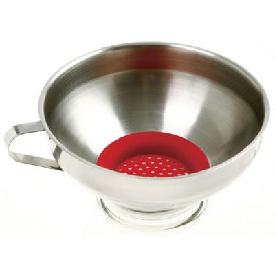 Wide Mouth Funnel with Silicone Strainer