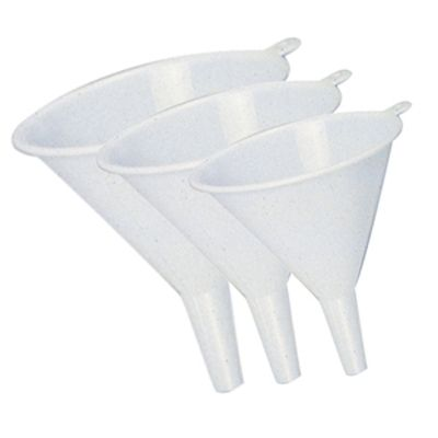 Plastic Funnels - Set of 3