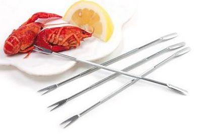 Stainless Steel Seafood Forks/Picks - Set of 4