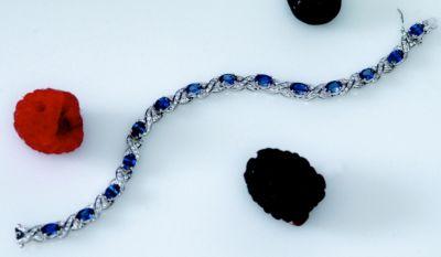 Women's Blue Sapphire & Diamonds