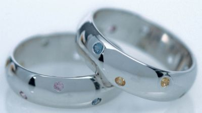 Women's Multi Sapphire Band - 18k White Gold