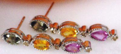 Multi Sapphire & Diamonds