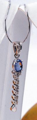 Tanzanite & Diamond Fancy Pendant - 18k White Gold