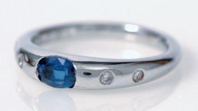 Women's Blue Sapphire & Diamond