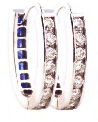 Blue Sapphire & Diamond Reversible Earrings