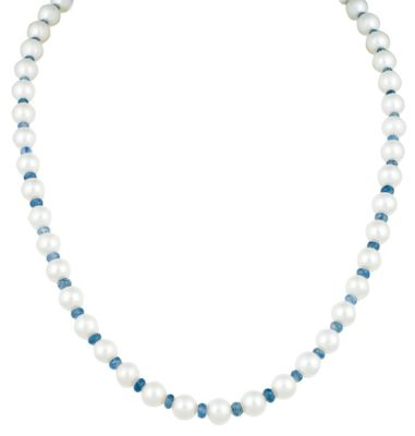 Pearl Necklace with Sapphires