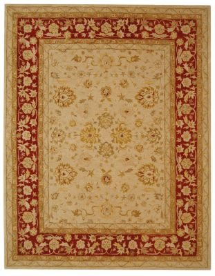 Anatolia 500 Area Rug - Ivory/Red