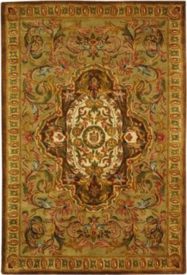Classic Area Rug - Beige/Olive