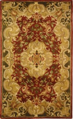 Classic Area Rug - Rust/Green