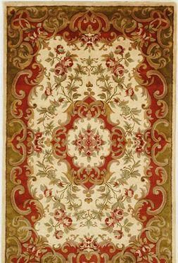 Classic Area Rug - Ivory/Green