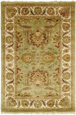 Classic Area Rug - Green/Ivory