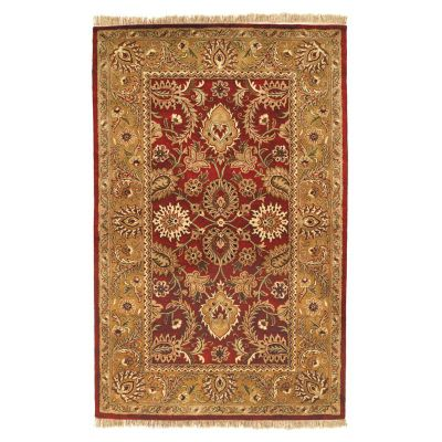 Classic Area Rug - Gold/Burgundy
