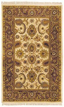 Classic Area Rug - Ivory/Red