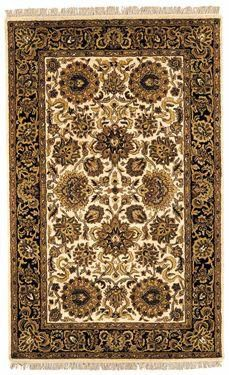 Classic Area Rug - Ivory/Black