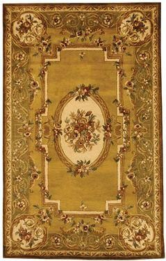 Classic Area Rug - Light Gold/Green