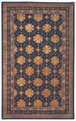 Classic Area Rug - Charcoal Green/Apricot