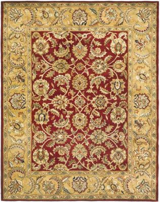 Classic Area Rug - Red/Gold