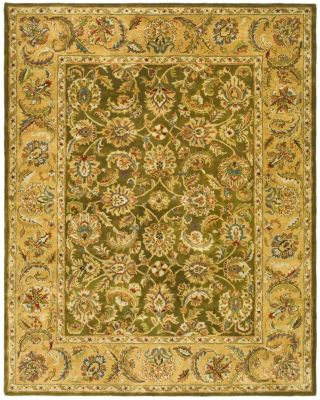 Classic Area Rug - Olive/Camel