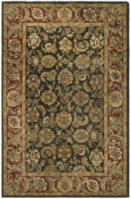 Classic Area Rug - Olive/Red