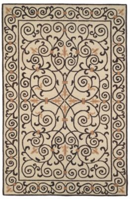 Chelsea 100 Area Rug - Ivory/Dark Brown