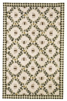 Chelsea 000 Area Rug - Ivory/Green