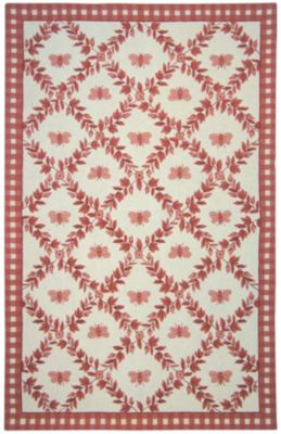 Chelsea 000 Area Rug - Ivory/Rose