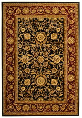 Lyndhurst Area Rug - Black/Red