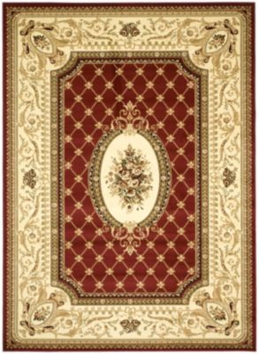Lyndhurst Area Rug - Red/Ivory