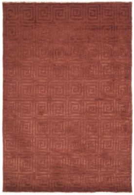Tibetan 100 Greek Key Area Rug - Rust