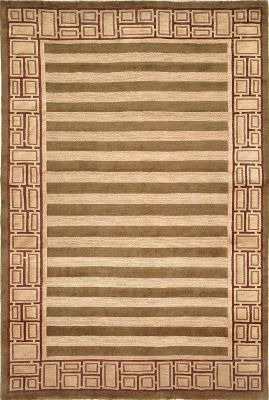 Tibetan 100 Birgad Area Rug - Sage/Plum