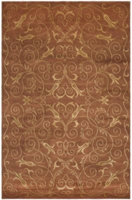 Tibetan 400 Chapparal Area Rug - Rust/Gold