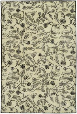 Thomas O'Brien Batik Area Rug - Cream Chocolate