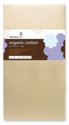 No-Compromise™ Organic Cotton Ultra Seamless 2-Stage Crib Mattress
