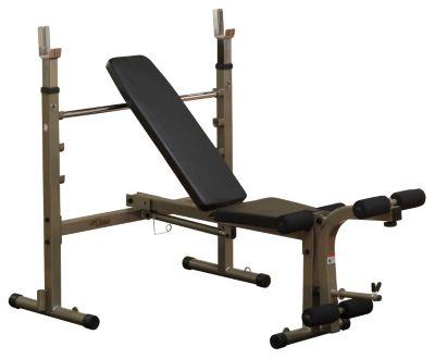 Best Fitness Folding Olympic Bench with Leg Developer
