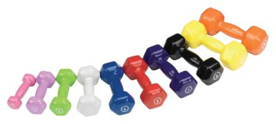 Vinyl Dumbbells 10 Pair Set