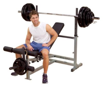 Power Center Olympic Bench Package