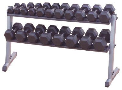Pro 2-Tier Horizontal Dumbbell Rack