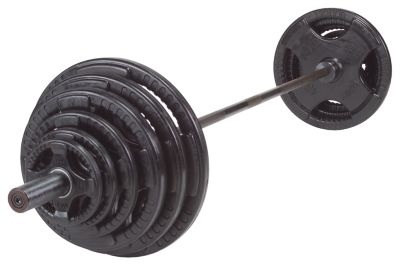 Rubber/Hand Grip 255 lb. Olympic Plate Set