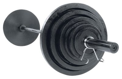 Cast 400 lb. Olympic Plate Set