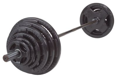 Rubber Grip 400 lb. Olympic Plate Set
