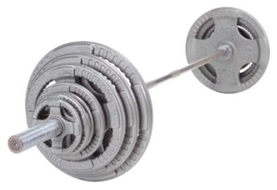 Cast Hand Grip 255 lb. Olympic Plate Set