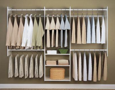 4' to 8' Deluxe Starter Closet Kit - White