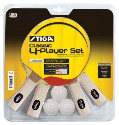 Stiga® Classic 4-Player Table Tennis Racket Set