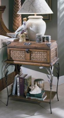 Palm Court Metal Leg Nightstand