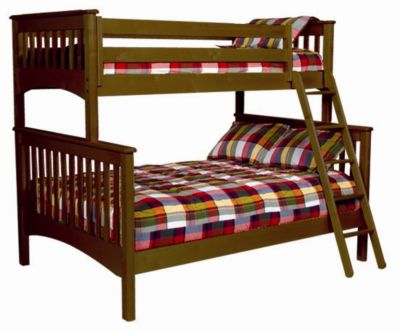 Mission Twin-Over-Full Bunk Bed - Cherry