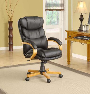 Executive Leather Office Chair - Cambridge Oak