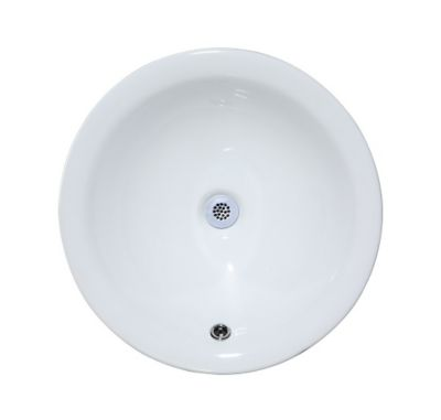 Rnd. Vitreous China Semi-Recessed Vessel Sink