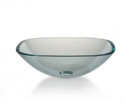 Tempered Glass Sq. Above Counter Vessel Sink