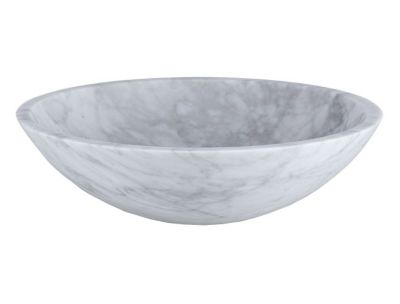 Marble  Round Stone Above Counter Vessel Sink