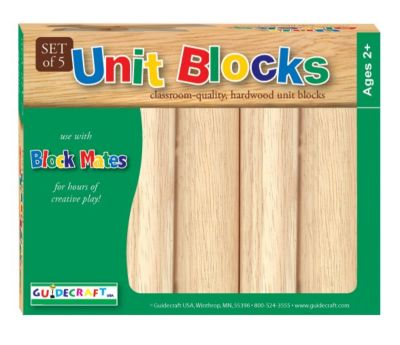 5 Piece Hardwood Unit Block Set